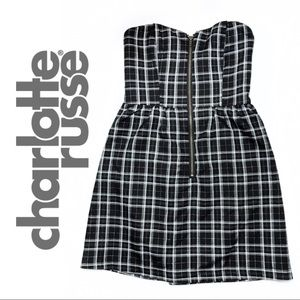 Charlotte Russe • Strapless Plaid Dress